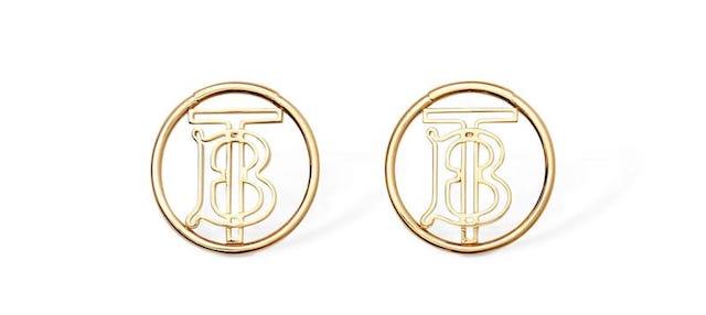 BURBERRY TB LOGO STUD 耳環