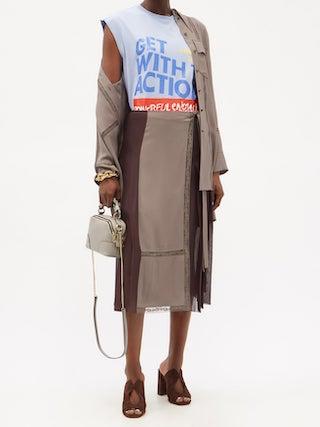 CHLOÉ Daria mini grained-leather cross-body bag