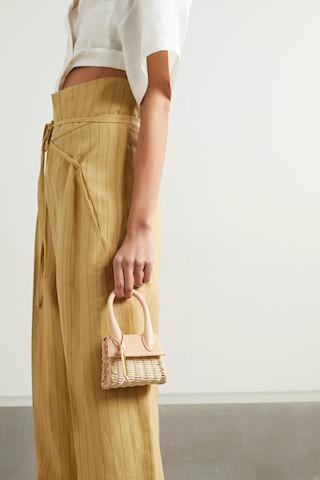 JACQUEMUS Le Chiquito 皮革墜飾柳條手提包